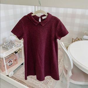 Zara girls maroon shift dress, size 9